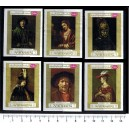 YEMEN K. 1969-710-15 Rembrandt's painting 6 st. imperf. MNG co