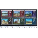 SHARJAH 1965-160b-60g n. 91-96 overprint with 4 bars to obliterate deposed Sheik´s portrait - block of 4 x 6 stamps **MNH