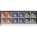EAST GERMANY 1973-2723 Berthold Brecht's Theatre - Block of 4 x 3 used stamps complete set
