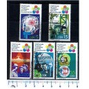 EAST GERMANY 1973-3106  Berlin's younger World festival   - Block of 4 x 5 used stamps complete set