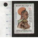 RWANDA 1973-scott 550 S-300 African hairdress ovpt.Quinzaine Africaine-Block of 4 val. **MNH