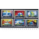 FUJEIRA 1970-404-13 Osaka's Expò - Block of 4 x 6 values imperforated mint complete set with out glue