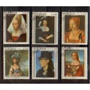 ECUADOR 1967-0053 Portraits of famous womens - 6 stamps used complete set