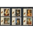 ECUADOR 1967-0053 Portraits of famous womens - 6 stamps used  complete set - RARE WITH LABELS
