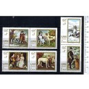 AJMAN 1968-231-36 Paintings with dogs - 6 stamps mint complete set with out glue