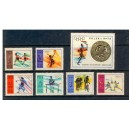 POLAND 1968-1670-77 Grenoble's oly games - 8 stamps mint complete set with out glue