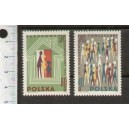 POLAND 1970-1863/65  500 Years Birth of Nicholas Copernicus - 3 stamps mint complete set  with out glue