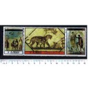 AJMAN 1972-2280/2282  Ancient wall paintings -  triptyc - 3 stamps **MNH complete set