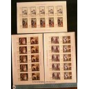 AJMAN 1968-231-36 Paintings with dogs - 6 stamps se-tenant mint complete set with out glue