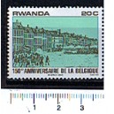 RWANDA 1980-scott 993 S-281  150th Anniversary of the Belgium - 1 stamp  **MNH