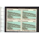 RWANDA 1980-scott 993 S-281  150th Anniversary of the Belgium - Corner Block of 4 stamps  **MNH