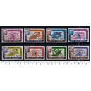 QU'AITI 1967-1207a Famous paintings - 8 used stamp complete set
