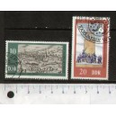 EAST GERMANY 1975- LS 57  Organs made by Silbermann - 3 used stamps