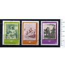 BULGARIA 1972-2179 LS Famous paintings - 3 stamps used