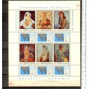 ROMANIA 1971-2608/2613 Balkanphila III Stamp Exhibition, Bucharest, paintings - 12 val. serie completa nuova
