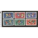 BULGARIA 1968-1595/600 OLYMPIC GAMES OF MEXICO - 6 values mint complete set with out glue