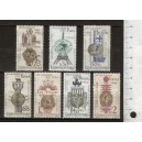 CZECHOSLOVAKIA 1967-1601-05 National Art - 5 stamps mint complete set with out glue