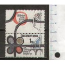 CZECHOSLOVAKIA 1971-1841 Unesco: Fight to racism - 1 stamp with label mint complete set with out glue