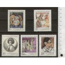 CZECHOSLOVAKIA 1972-1930/34 Popular Artistic creations - 5 stamps mint complete set with out glue