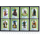 AJMAN 1968-203-10  Arab Costumes 8 stamps MNG cpl set