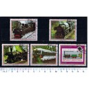 PARAGUAY 1986-270 Steam goods trains - 3 stamps used complete set