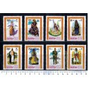 MANAMA 1968-65-72 Men's and woman's costumes - 8  stamps in strips mint complete **MNH