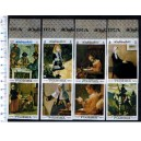 FUJEIRA 1967-124-31 Famous paintings - 8 stamps MNG comp