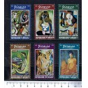 TOGO 1974-3021 Paintings of Picasso  6 stamps used