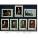 U.R.S.S. 1972-3845-51 Famous paintings 7 stamps us.complete set