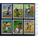 GUINEA 1975-358 Boy Scout  6 val. us. serie completa