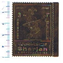 SHARJAH 1971-753 Boy Scout 1 valore ** su gold foil