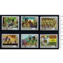GUINEA 1969-357 Boys Scouts  6 stamps used comple