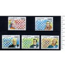 CAMBODGE 1994-492 Chess Championship 5 stamps us. comple